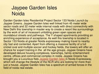 Jaypee Garden Isles