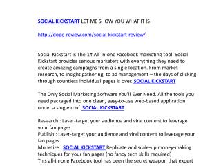 Social Kickstart Review & Bonuses — Should I Get it ?