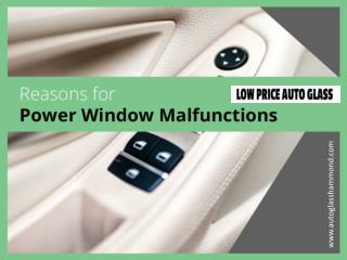 Power Window and Auto Glass Repair in Hammond