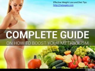 The Complete Guide on How to Boost Your Metabolism