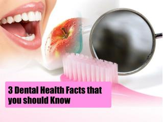 3 Dental Health Facts that you should Know
