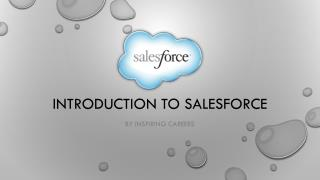 Introduction to salesforce #inspiringcareers