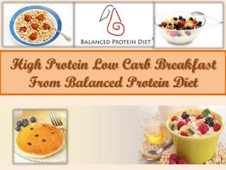 High Protein Low Carb Breakfast From Balanced Protein Diet