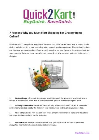 7 Reasons Why You Must Start Shopping For Grocery Items Online?
