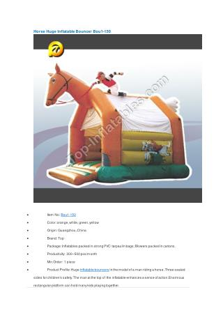 Horse Huge Inflatable Bouncer Bou1-150