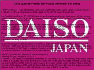 Daiso Japanese Variety Store Grand Opening In San Dimas