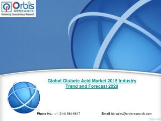 The Outlook of Global Glutaric Acid Market in 2015