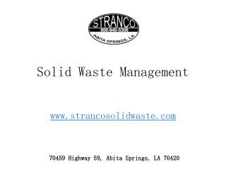 Solid Waste Management: Types, Sources, Effects and Methods