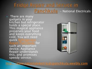 Refrigerator Repair in Panchkula - National Electricals