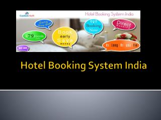 Custom Soft Hotel booking Software allows people to do self room reservation by paying through credit card securely