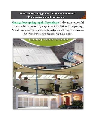 Garage Doors Greensboro NC