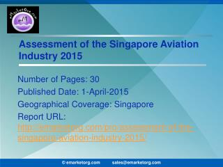 Singapore Aviation Sector Evaluation and Growth Scenario 2015