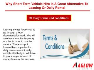 Why short term vehicle hire is a great alternative to leasing or daily rental