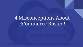 Busting the Top 4 Ecommerce Myths