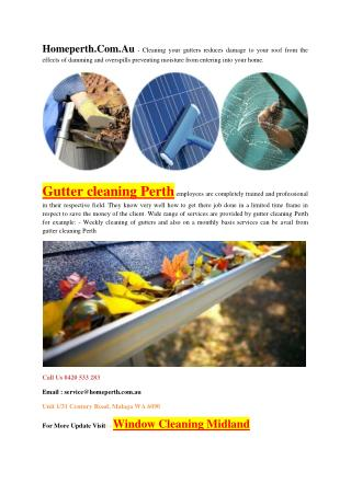Find Best Gutter Cleaning Service Perth