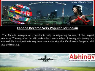 Canada Became Very Popular For Indian