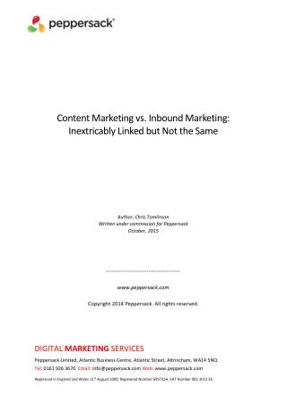 Content Marketing vs. Inbound Marketing: Inextricably Linked but Not the Same