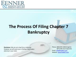 Process of Filing Chapter 7 Bankruptcy  Fenner & Associates