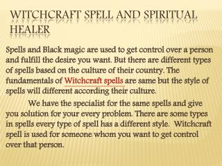 Witchcraft spell and spiritual healer