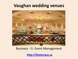 Vaughan wedding venue banquet halls
