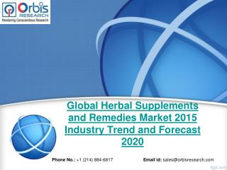 Herbal Supplements and Remedies  Market Global Industry Analysis 2015 - 2020