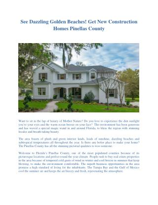 New Construction Homes Pinellas County