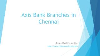 Axis Bank Branches in Chennai