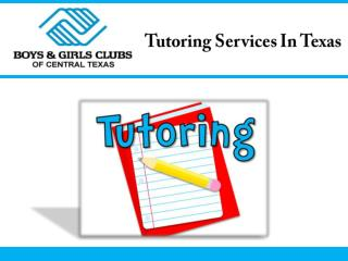 Tutoring Services In Texas
