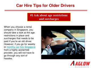 Car Hire Tips for Older Drivers