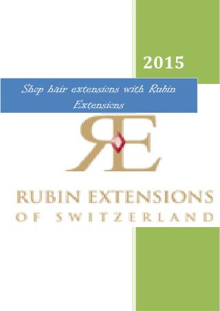 Shop hair extensions with Rubin Extensions