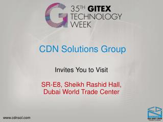 Meet CDN Solutions Group in Gitex Technology Week 2015 Dubai