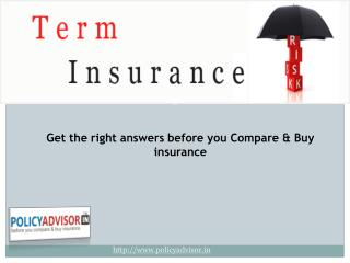 Online Term Plan Insurance India