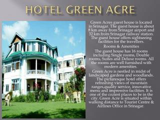 Hotel Green Acre