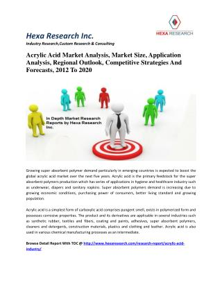 Acrylic Acid Market Analysis, Market Size, Application Analysis, Regional Outlook, Competitive Strategies And Forecasts,