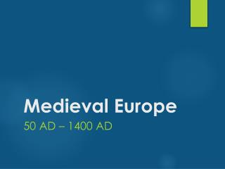 Mayer - World History - Medieval Europe