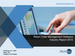 Retail Order Management Software Industry Report 2015