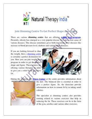 Slimming Centre in India | Fitness Centre
