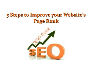 5 Steps to Improve your Website's Page Rank
