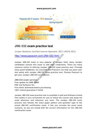 Juniper JN0-332 exam practice test