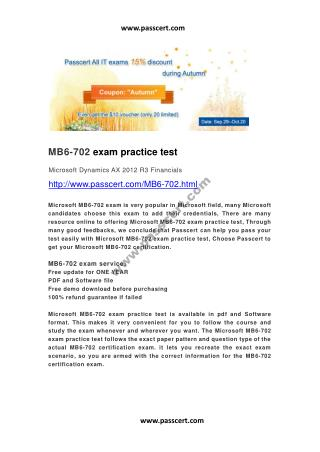 Microsoft MB6-702 exam practice test