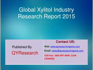 Global Xylitol Market 2015 Industry Research, Outlook, Trends, Development, Study, Overview and Insights