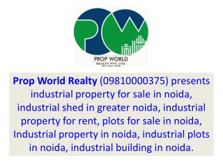 Industrial Property In Noida For Sale