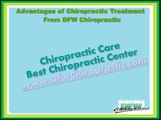 Advantages of Chiropractic Treatment