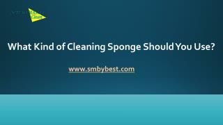 What Kind Of Cleaning Sponge Should You Use?