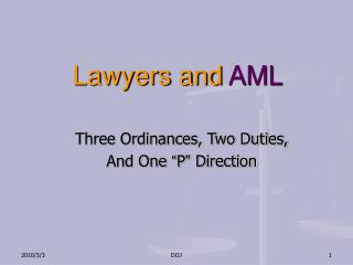Lawyers and  AML