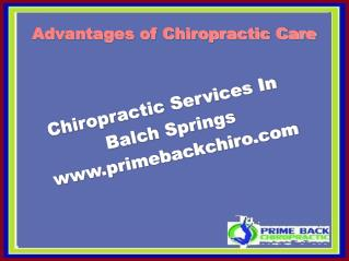 Advantages of Chiropractic Care