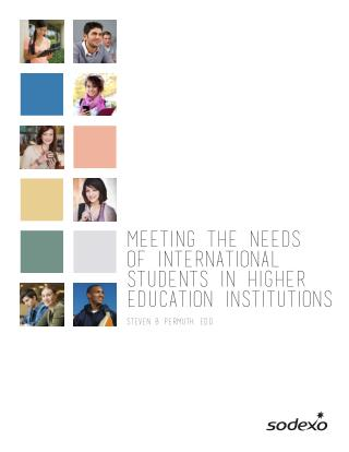 Meeting the Needs of International Students in Higher Education Institutions