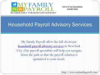 Household Payroll Advisory Services