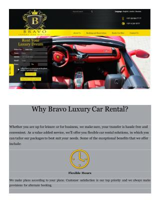 Luxury Rent a Car Dubai