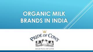 Organic milk brands in India